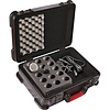 Gator GM-15-TSA ATA Molded Case w/ Drops for 15 Mics; TSA Latches