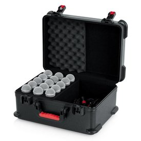 Gator Gator GM-15-TSA ATA Molded Case w/ Drops for 15 Mics; TSA Latches