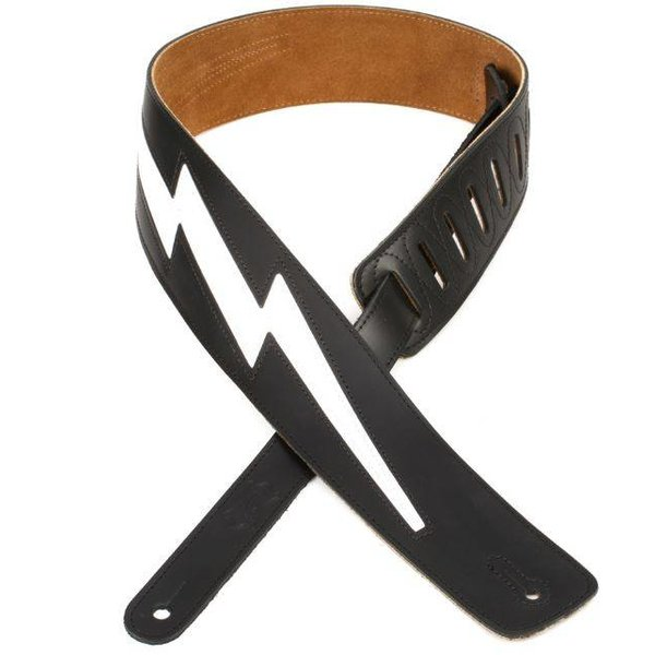 "Levy's Leathers Levy's DM2-BLK 2.5"" Top Grain Leather Guitar Strap Black"
