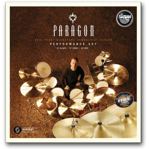 Sabian NP5005N Paragon Neil Peart Performance Set