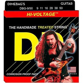 DR Handmade Strings DR DBG-9 Dimebag Darrell Signature Electric Guitar Strings, 9-42
