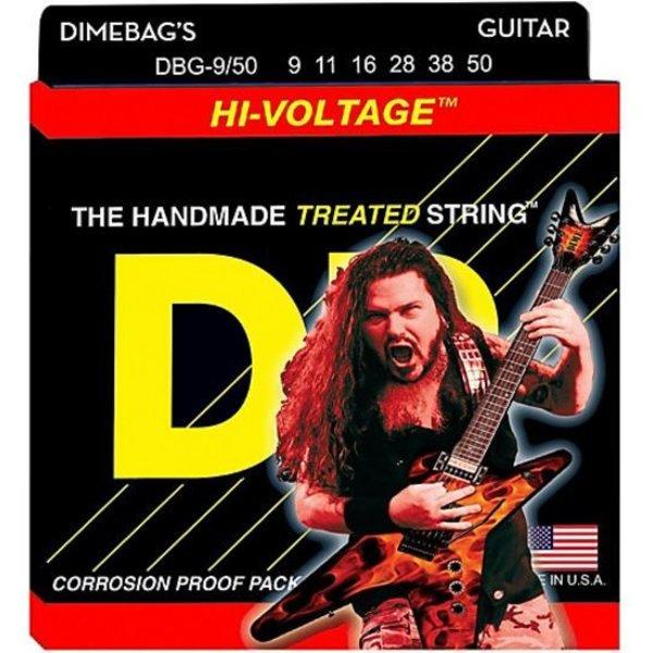 DR Handmade Strings DR DBG-9 Dimebag Darrell Signature Electric Guitar Strings, 9-42