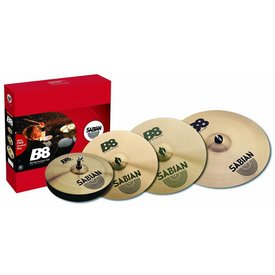 """Sabian Sabian B8 Promotional Set, Includes 14"""" Hi-Hats, 16"""" and 18"""" Crashes, and 20"""" Ride"""