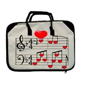 Music Treasures Co. Keyboard Briefcase Heart  / Staff