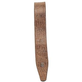 Levy's Leathers Levy's M317AG-BRN Simulated Alligator Leather Guitar Strap
