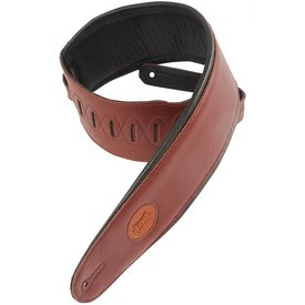 "Levy's Leathers Levy's MSS2-4-BRG 4.5"" Garment Leather Bass Strap with Foam Padding"