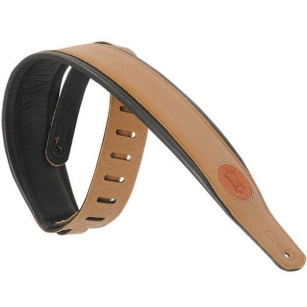 "Levy's Leathers Levy's MSS2-TAN 3"" Signature Series Garment Leather Guitar Strap"