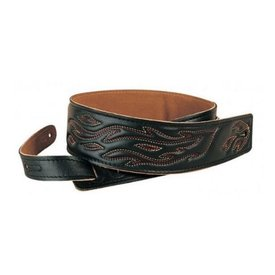 "Levy's Leathers Levy's DM1SGF-BLK 2.5"" Garment Leather Strap with Decoration"