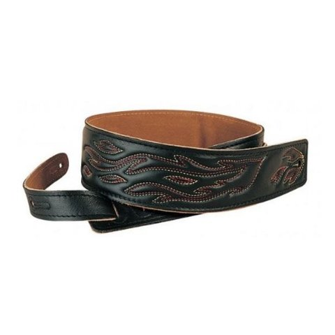 "Levy's DM1SGF-BLK 2.5"" Garment Leather Strap with Decoration"