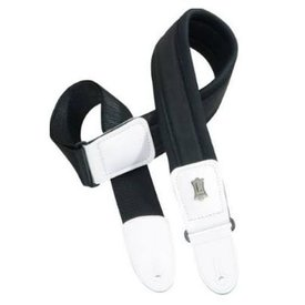 "Levy's Leathers Levy's PM48NP2-WHT 2.5"" Neoprene Padded Guitar Strap with Leather End"