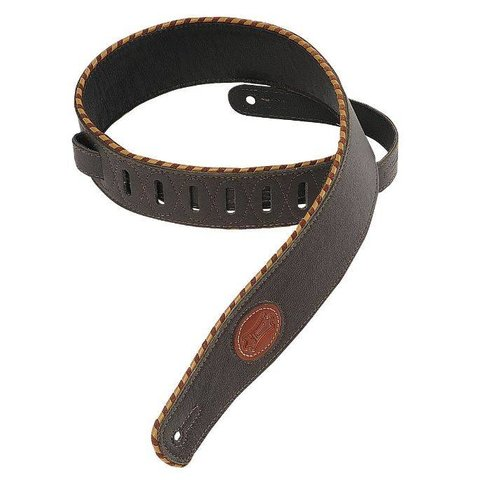 """Levy's MSS13-DBR 2.5"""" Signature Series Garment Leather Guitar Strap"""
