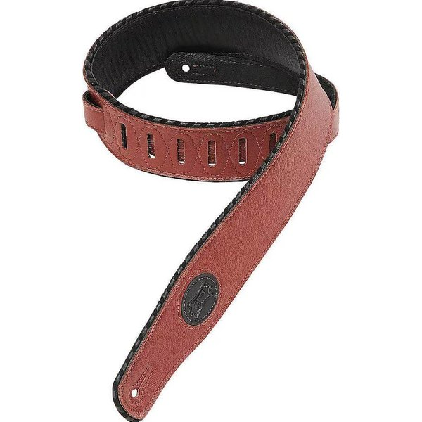 "Levy's Leathers Levy's MSS13-BRG 2.5"" Signature Series Garment Leather Guitar Strap Burgundy"