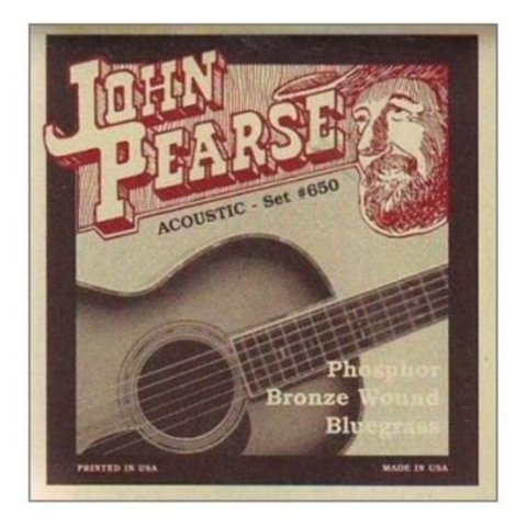 John Pearse JP650LM Bluegrass Strings, Phosphor Bronze, .12-.56