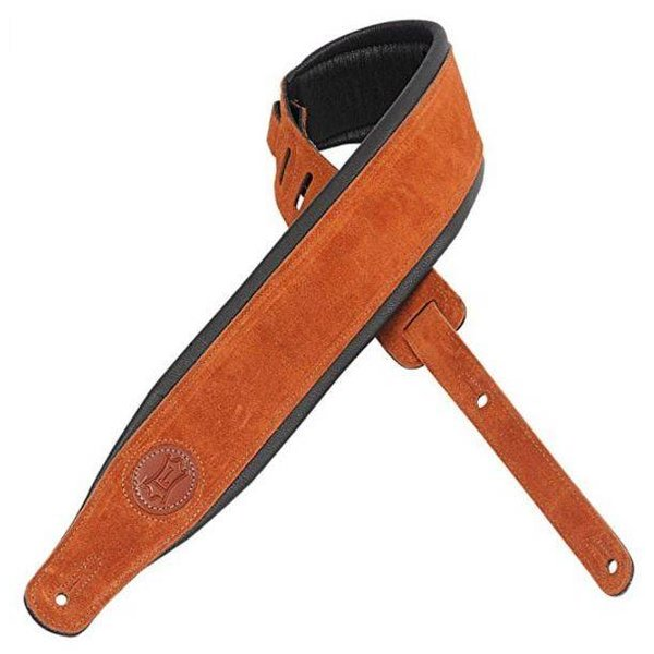 "Levy's Leathers Levy's MSS2S-CPR 3"" Signature Series Suede Leather Guitar Strap"