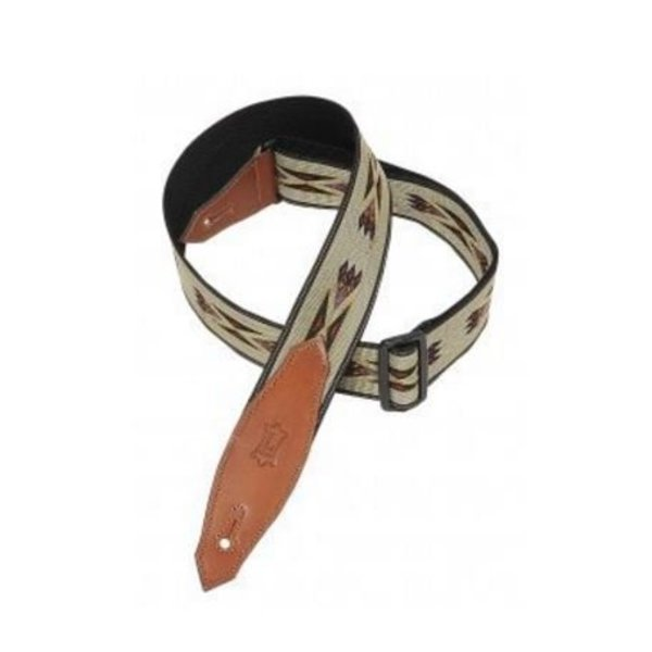 "Levy's Leathers Levy's MSSN80-TAN 2"" Polypropylene Jacquard Weave Guitar Strap Tan"