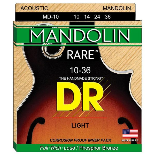 DR Strings DR Strings MD-10 Light MANDOLIN: 10, 14, 24, 36