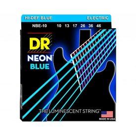 DR Strings DR Strings NBE-10 Medium Hi-Def NEON BLUE: Coated Electric: 10, 13, 17, 26, 36, 46