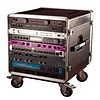 Gator GRC-BASE-14 14U Rack Base w/ casters, for Console Audio Racks