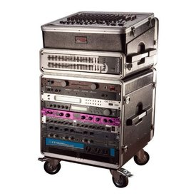 Gator Gator GRC-BASE-10 10U Rack Base w/ casters, for Console Audio Racks