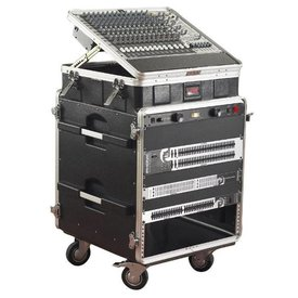 Gator Gator GRC-10X12 PU 10U Top, 12U Side Console Audio Rack