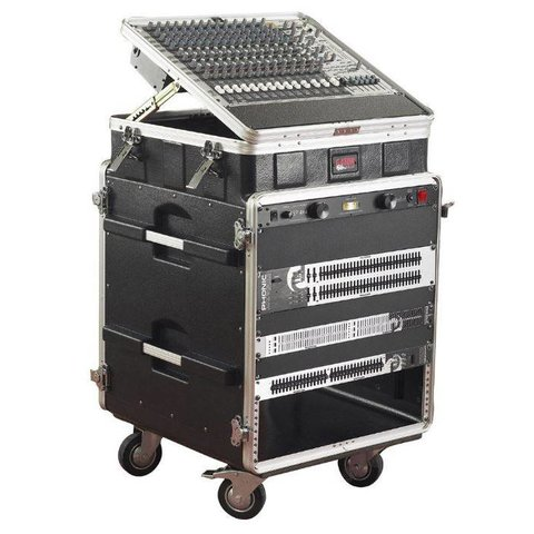 Gator GRC-10X12 PU 10U Top, 12U Side Console Audio Rack