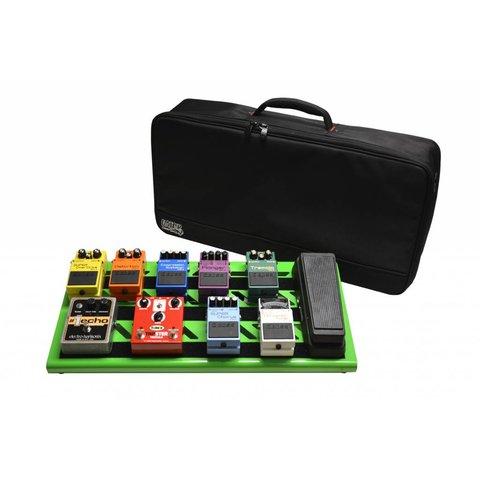 Gator GPB-BAK-GR Green Aluminum Pedal Board; Large w/ Carry Bag