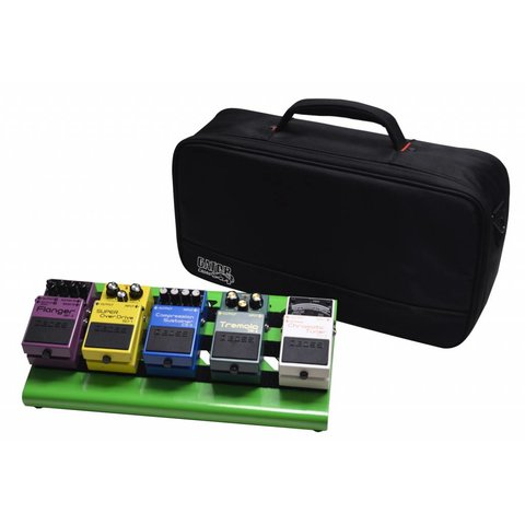 Gator GPB-LAK-GR Green Aluminum Pedal Board; Small w/ Carry Bag