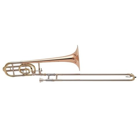 "Holton TR158 Professional Tenor Trombone, F Rotor, 9"" Rose Brass Bell"