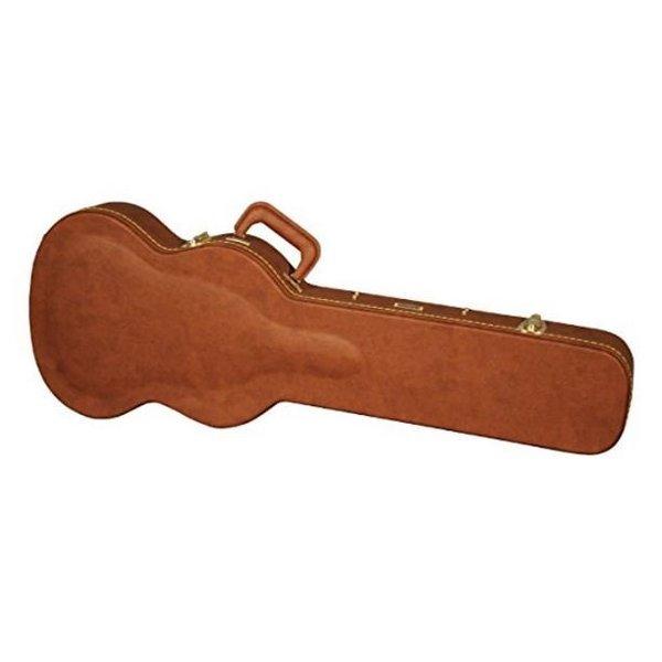 Gator Gator GW-SG-BROWN Gibson SG Guitar Deluxe Wood Case, Brown