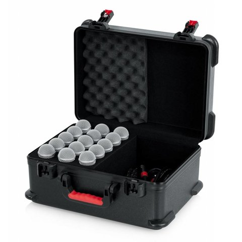 Gator GTSA-MIC15 TSA ATA Molded Case w/ Drops for (15) Mics