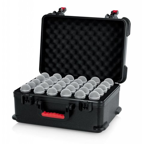 Gator GTSA-MIC30 TSA ATA Molded Case w/ Drops for (30) Mics