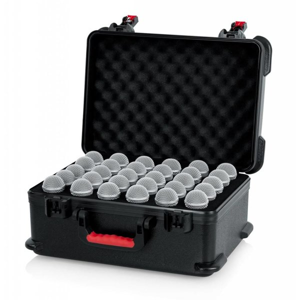 Gator Gator GTSA-MIC30 TSA ATA Molded Case w/ Drops for (30) Mics