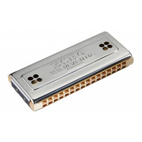 Hohner 54-C/G Echo 54 Harmonica (32 Hole Tremolo); Key of C/G