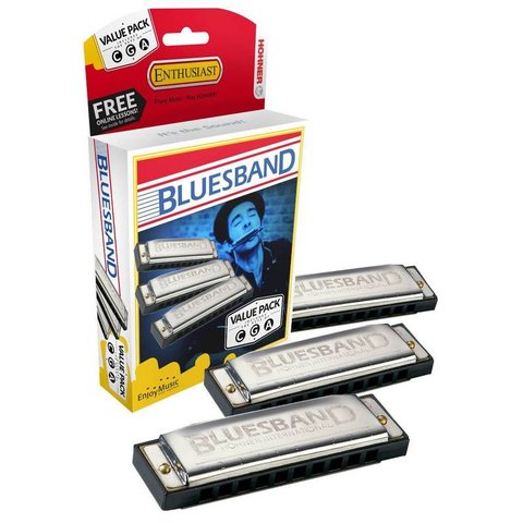Hohner 3P1501BX Bluesband Pro Pack 1501 In Keys G, A & C
