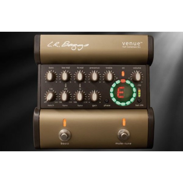 LR Baggs LR Baggs Venue DI Full Isolation Acoustic Preamp EQ/DI/Tuner Footpedal