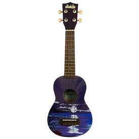 Makala Makala Ukadelic MK-SNIGHT Soprano Ukulele, Tropical Night