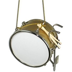 Music Treasures Co. Bass Drum Ornament Gold