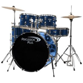 Percussion Plus Percussion Plus 5-Pc Drum Set - Brushed Blue