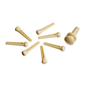 Planet Waves Planet Waves Injected Molded Bridge Pins with End Pin, Set of 7, Ivory