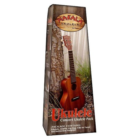Makala MK-S/PACK Contains: Makala Soprano Ukulele, Bag, Tuner, and Instructions