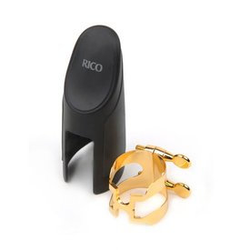 Rico H-Ligature & Cap, Baritone Sax for Selmer-style Mouthpieces, Gold-plated