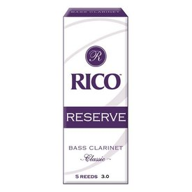Rico Rico Reserve Classic Bass Clarinet Reeds, Box of 5