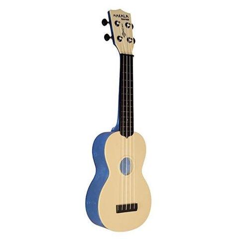 Makala Waterman MK-SWT Composite Soprano Ukulele, Translucent Blue