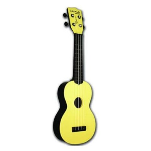Makala Waterman MK-SWB Composite Soprano Ukulele, Solid Yellow