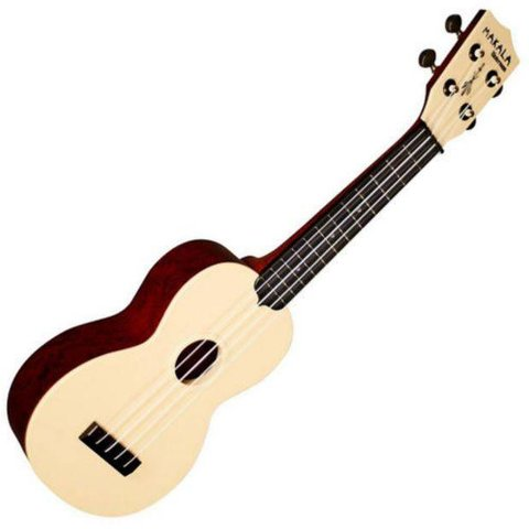 Makala Waterman MK-SWS Composite Soprano Ukulele, Wrapped Swirl Red