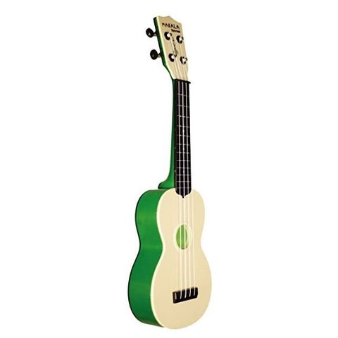 Makala Waterman MK-SWT Composite Soprano Ukulele, Translucent Green