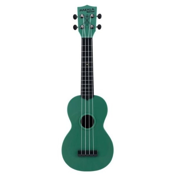 Makala Makala Waterman MK-SWB Composite Soprano Ukulele, Solid Green