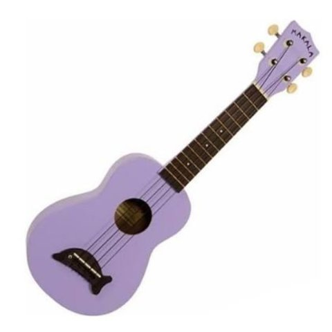 Makala Dolphin MK-SD/SOLID Dolphin Bridge Soprano Ukulele, Gloss - Purple