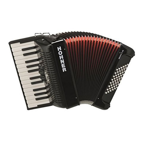 Hohner BR48R-N Bravo III Accordion 72 Jet Black