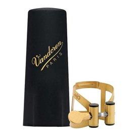 Vandoren Vandoren M|O Ligature and Plastic Cap for Tenor Saxophone; Aged Gold Finish